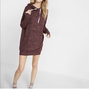 Marled Hooded Sweatshirt Dress